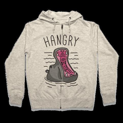 Hangry Hippo Zip Hoodie