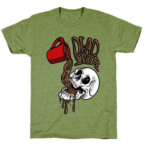 Dead Inside Skull & Coffee (black)  T-Shirt