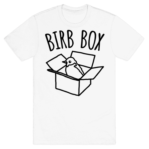 Birb Box Parody Mens T-Shirt
