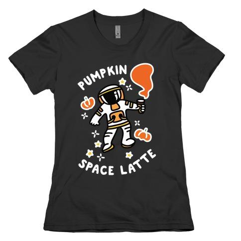 Pumpkin Space Latte Astronaut Womens T-Shirt