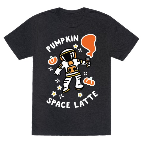 Pumpkin Space Latte Astronaut T-Shirt