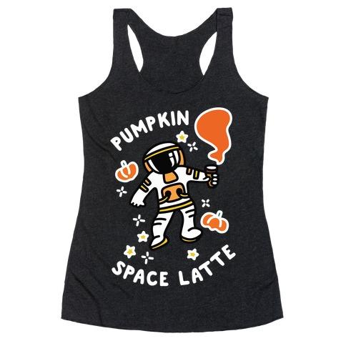 Pumpkin Space Latte Astronaut Racerback Tank Top