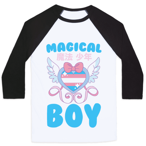 Magical Boy - Trans Pride Baseball Tee
