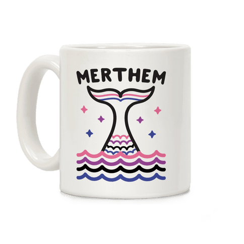 Merthem (Gender Fluid Mermaid) Coffee Mug
