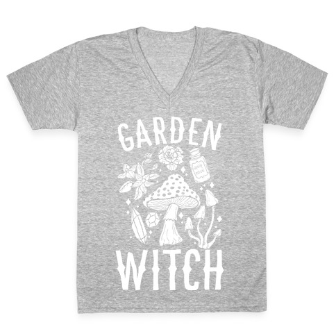 Garden Witch V-Neck Tee Shirt