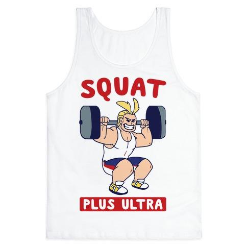 6fad6e3a Squat Plus Ultra - All Might Tank Top | LookHUMAN