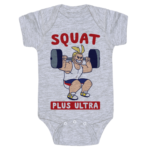 Squat Plus Ultra - All Might Baby Onesy