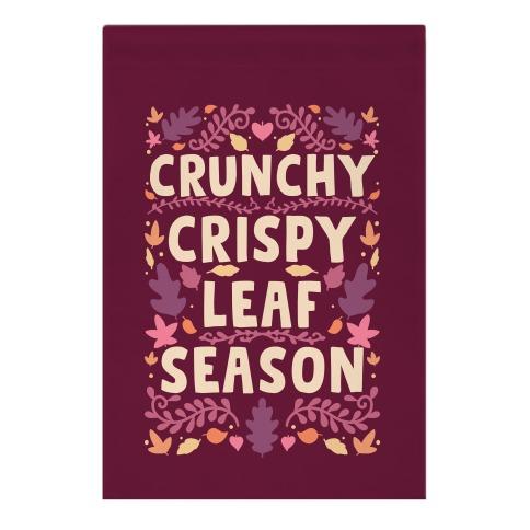 Crunchy Crispy Leaf Season Garden Flag
