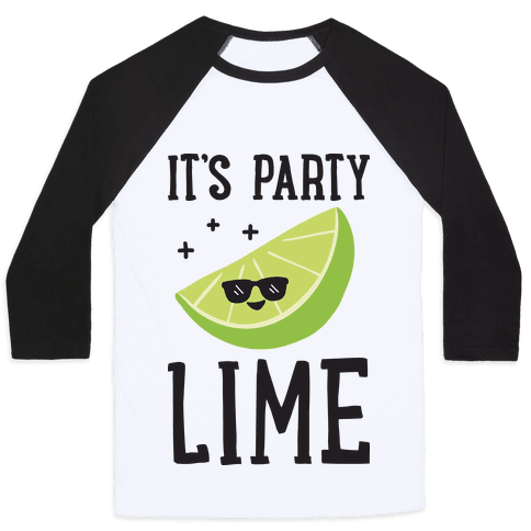 It's Party Lime Baseball Tee