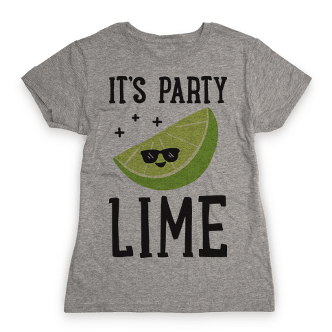 It's Party Lime Womens T-Shirt