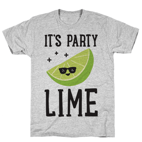 It's Party Lime Mens T-Shirt