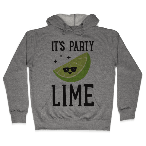 It's Party Lime Hooded Sweatshirt