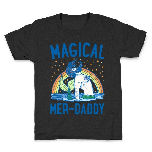 Magical Mer-Daddy White Print Kids T-Shirt