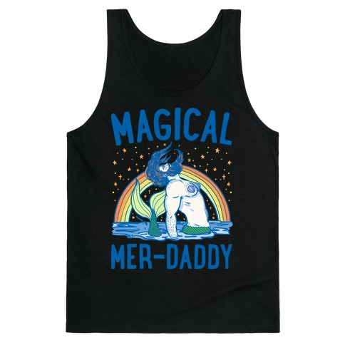 Magical Mer-Daddy White Print Tank Top