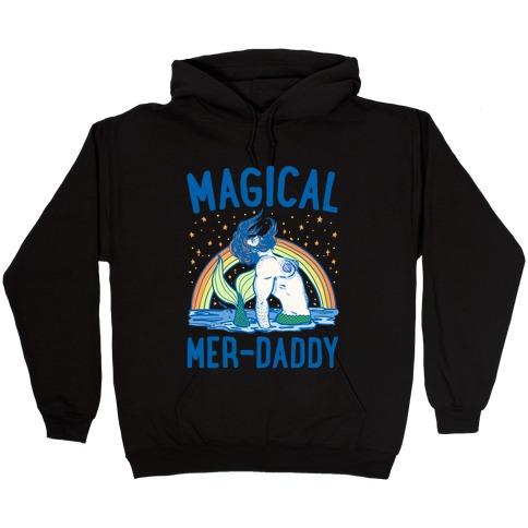 Magical Mer-Daddy White Print Hooded Sweatshirt