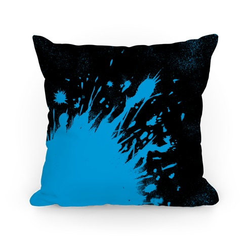 Paint Splatter Pillow