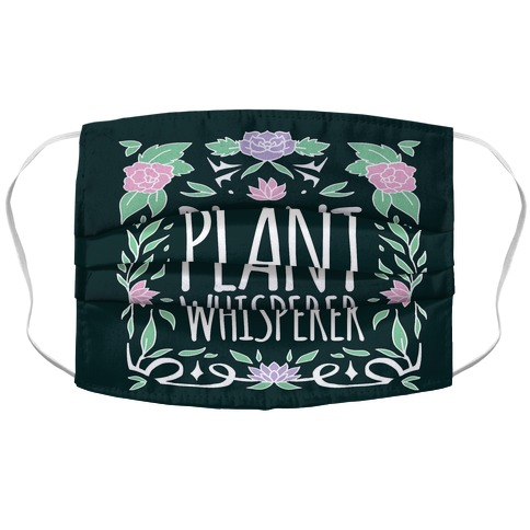 Plant Whisperer Accordion Face Mask