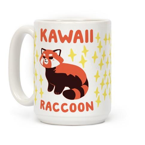 Kawaii Raccoon - Red Panda Coffee Mug
