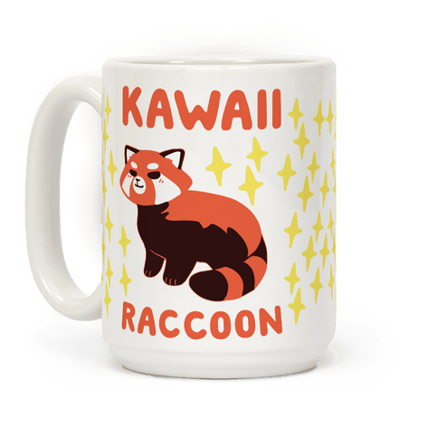 Kawaii Raccoon - Red Panda Coffee Mug