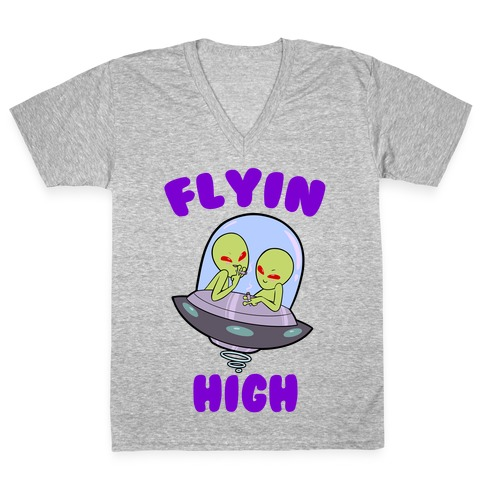 Flyin' High V-Neck Tee Shirt