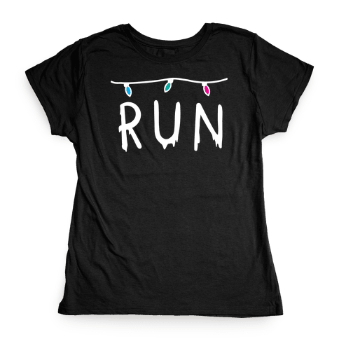 Run Stranger Things Womens T-Shirt