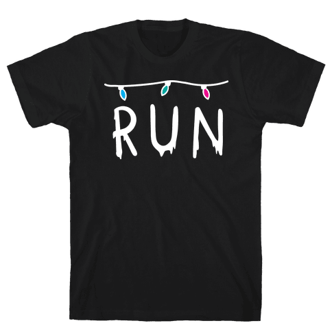 Run Stranger Things Mens T-Shirt