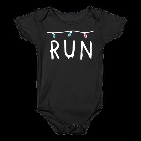 Run Stranger Things Baby Onesy