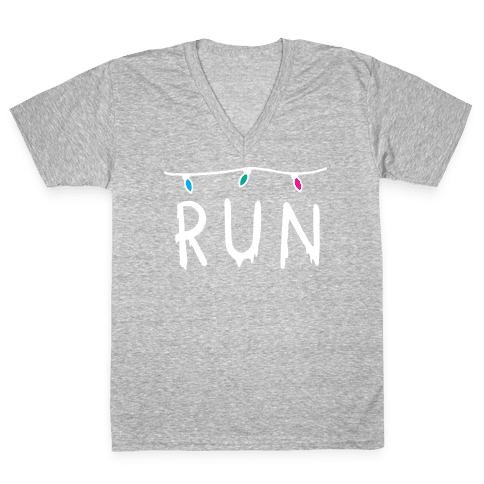 Run Stranger Things V-Neck Tee Shirt