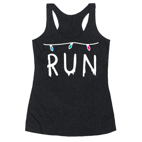 Run Stranger Things Racerback Tank Top