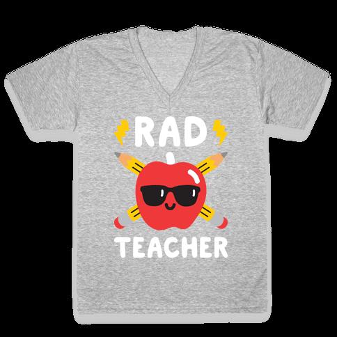 Rad Teacher V-Neck Tee Shirt