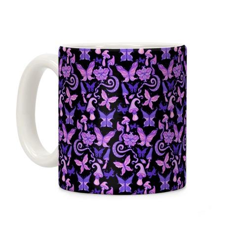 Fairy Goth Pattern Coffee Mug