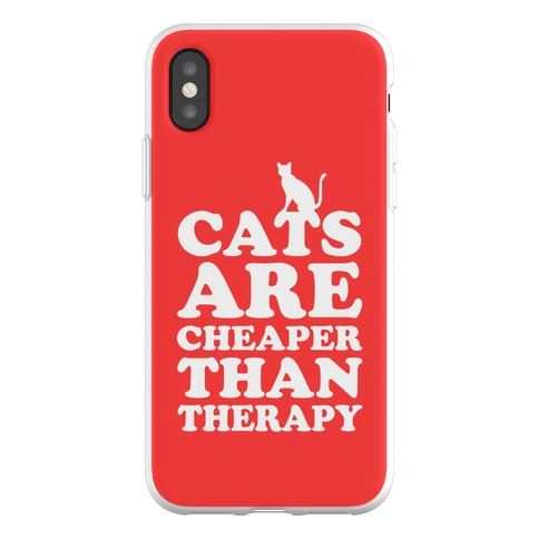 Cats Are Cheaper Than Therapy Phone Flexi-Case