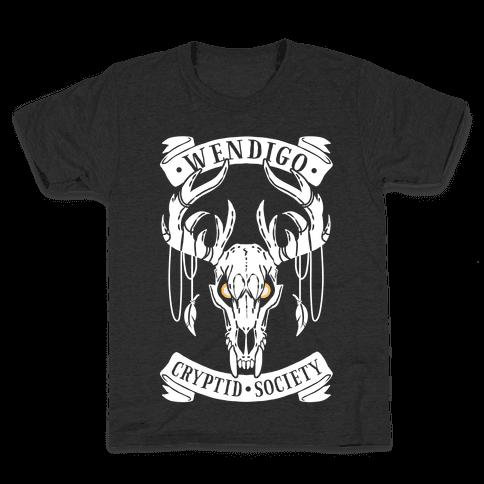 Wendigo Cryptid Society Kids T-Shirt