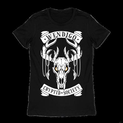 Wendigo Cryptid Society Womens T-Shirt