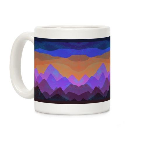 Abstract Mountain Sunset Coffee Mug