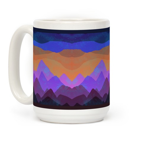 Abstract Mountain Sunset Coffee Mug