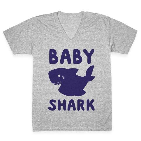 Baby Shark (1 of 5 set) V-Neck Tee Shirt