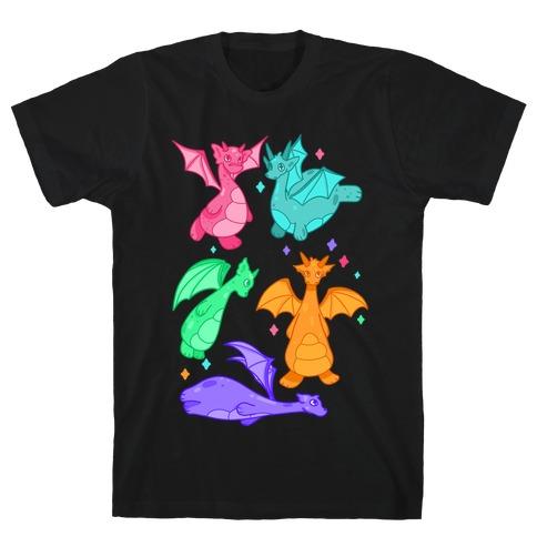 Colorful Dragons T-Shirt
