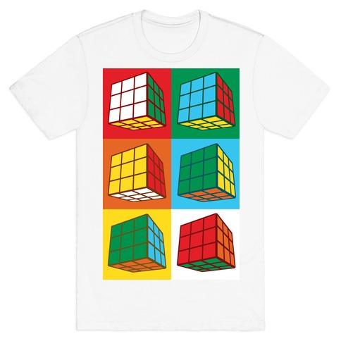 Rubix Cubes Pattern T-Shirt