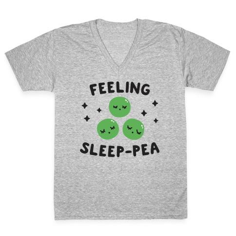 Feeling Sleep-pea V-Neck Tee Shirt