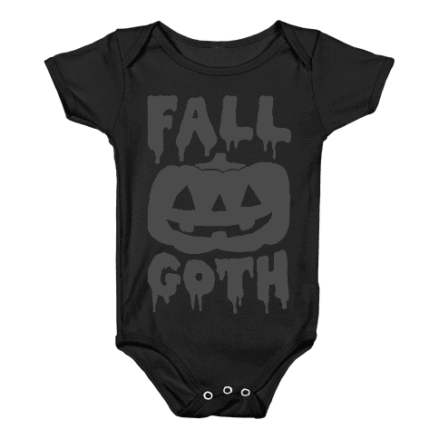 Fall Goth Baby Onesy