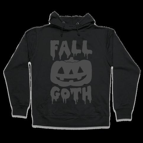 Fall Goth Hooded Sweatshirt