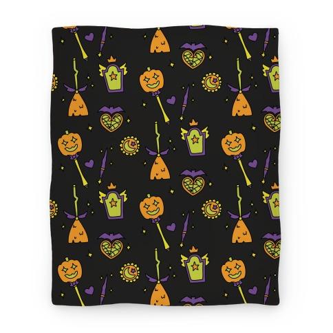 Halloween Magical Girl Pattern Blanket