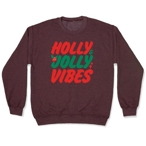 Holly & Jolly Vibes White Print Pullover