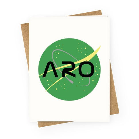 Aro Nasa Greeting Card