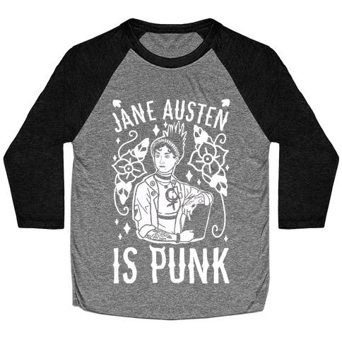 Jane Austen Is Punk Baseball Tee