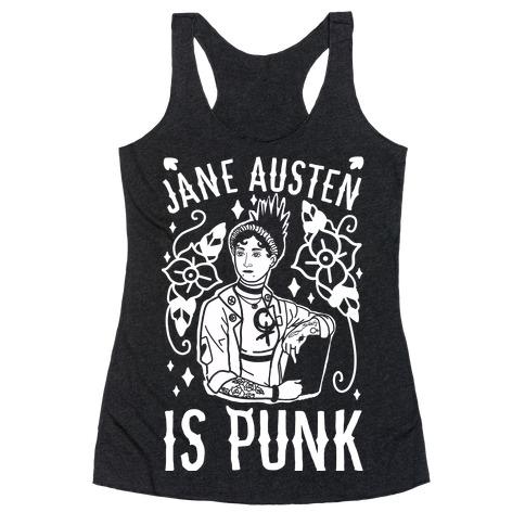 Jane Austen Is Punk Racerback Tank Top