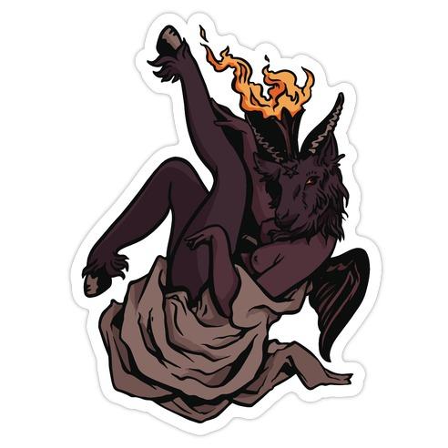 Satan Is Wait'n Die Cut Sticker