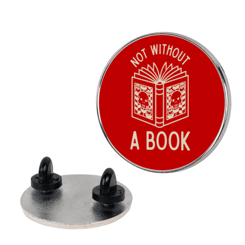 Not Without a Book pin
