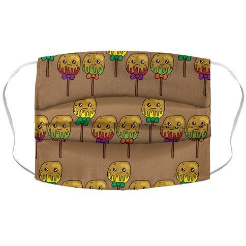 Caramel Apple Cuties Pattern Accordion Face Mask